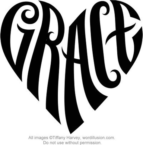heart name tattoo generator free quot grace quot heart design v 2 a custom design of the name