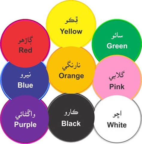 colors name list in urdu and english with pictures recognize colors