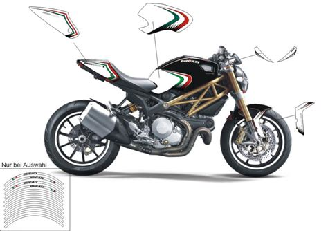 Ducati Monster Aufkleber by Monster 696 796 1100 S Evo Folien Designkits Optik Und