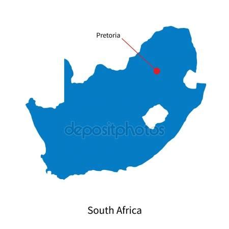 vector map south africa detailed vector map of south africa and capital city