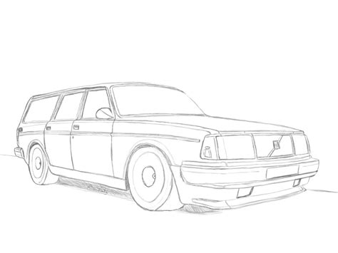lada da disegno volvo 245 turbo drawing by revolut3 on deviantart