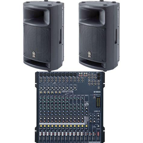 Audio Mixer Yamaha Mg166cx yamaha mixing console pro audio mg166cx msr400 bundle b h
