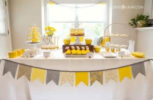 Pin yellow gray baby shower themes decoration ideas on pinterest