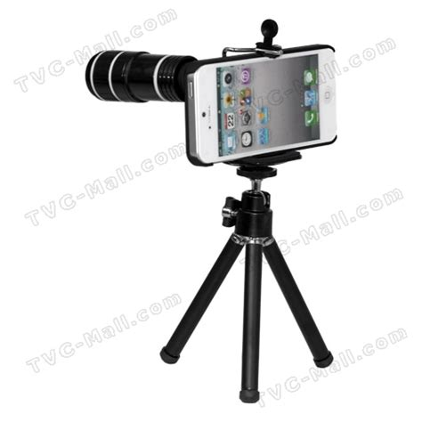 Tripod Iphone 5 12x optical zoom telescope lens with tripod stand for iphone 5