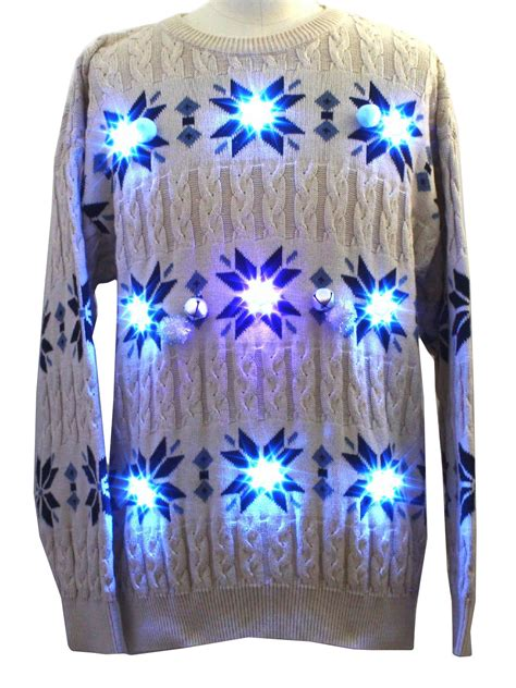 light up hanukkah sweater mens lightup cable knit style
