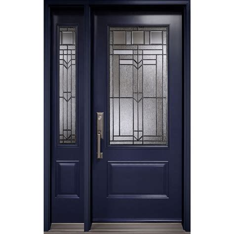 Exterior Door Glass Insert Orleans Entry Door With One Sidelite From Prestige Collection With 3 4 Royston Decorative Glass