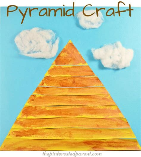 paper pyramid craft 1000 ideas about craft activities for on