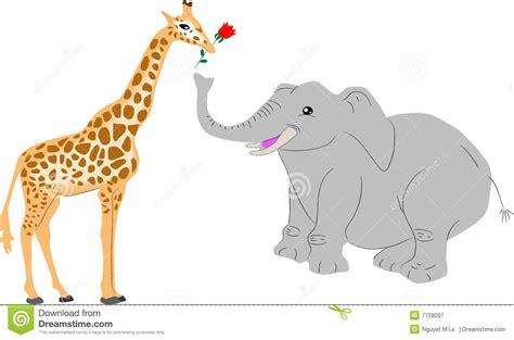 imágenes de jirafas y elefantes jirafa y elefante fotograf 237 a de archivo libre de regal 237 as