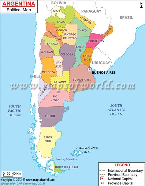 argentina political map argentina geography and the land livingattheendoftheworld