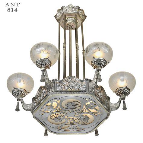 vintage art deco ceiling light fixture art nouveau or deco french chandelier antique ceiling