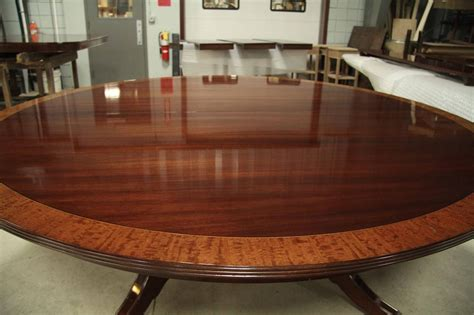 round mahogany dining custom american made 84 inch round mahogany dining