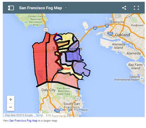 san francisco fog map san francisco fog map michigan map