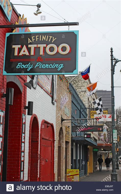 tattoo shops downtown sign for affinity on historic 6th in