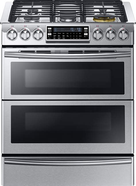 Oven Samsung samsung chef collection 5 8 cu ft self cleaning slide in oven dual fuel convection