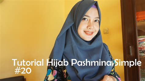 tutorial pashmina bahan spandek tutorial hijab pashmina simple 20 indahalzami youtube