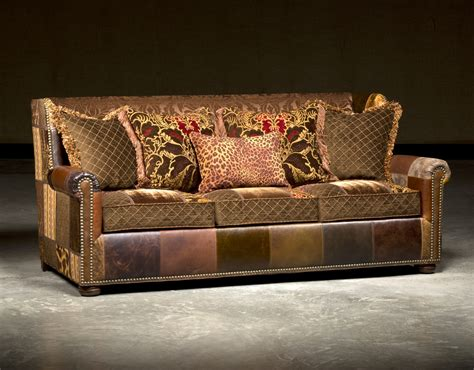 High End Leather Sofas Leather Sofa In Patches High End Furnishings