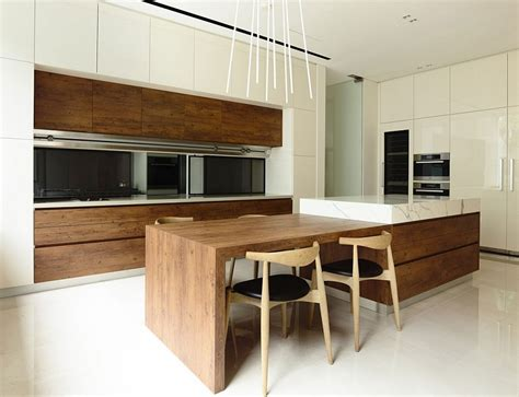 modern kitchen island table nature inspired residence in singapore contemporary style