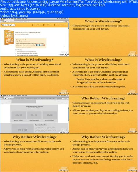 ten ton website wireframing with html5 and css3 187 vector