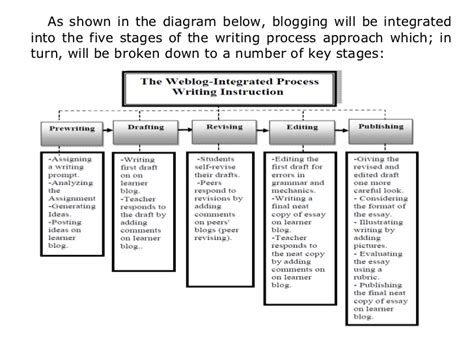 Stages Of Writing An Essay by The Essay Writing Process