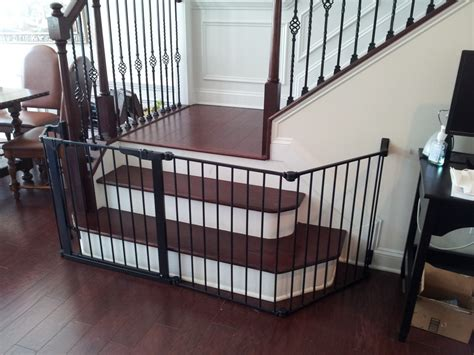 baby gates for bottom of stairs with banister baby gates babyproofing help i atlanta s pro babyproofer