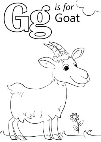 goat coloring pages kindergarten common worksheets 187 letter g printable preschool and