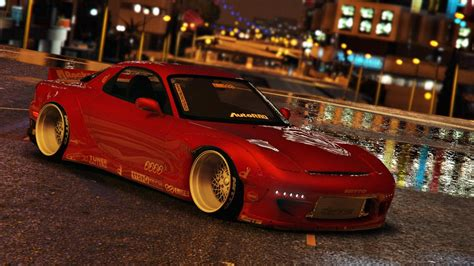rocket bunny rx7 mazda rx7 rocket bunny add on replace gta5 mods com