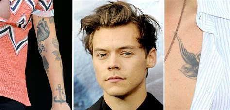 harry styles tattoo guide list what do the one direction