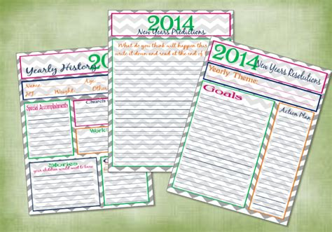 2013 new years predictions print one willis family new years resolutions printables