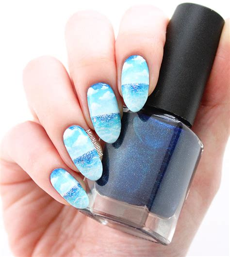 me and you and a named blue blue sky nail nailbees