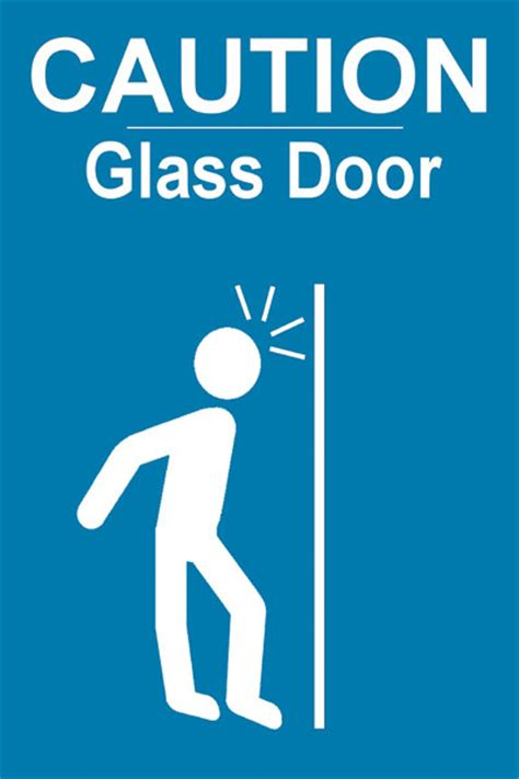 Glass Door Sign Window Caution Sticker Inclusion Solutions Store
