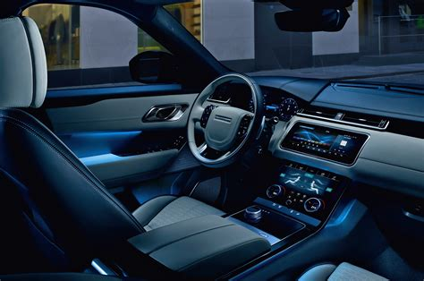 blue range rover interior 2018 range rover velar already gets a wide body kit by