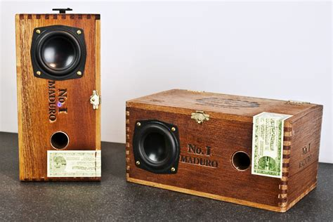 Handmade Audio - speakers made from cigar boxes direkt concept