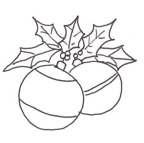 imagenes de navidad sin colorear esferas para colorear