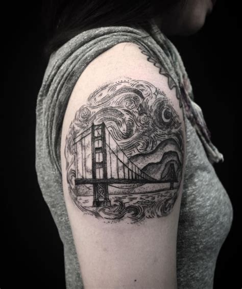 bridge tattoo starry golden gate bridge for thanks so much