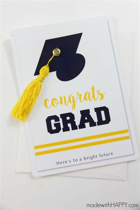 how to make a graduation card graduation card with tassel myprintly