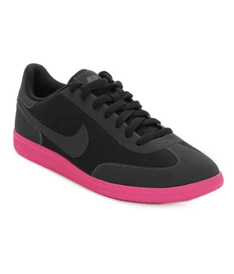 nike black pink synthetic leather lifestyle shoes price