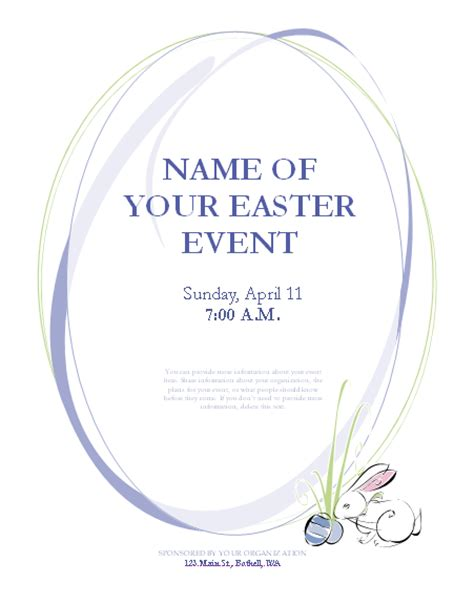 easter templates free easter flyer template flyers ready made office templates
