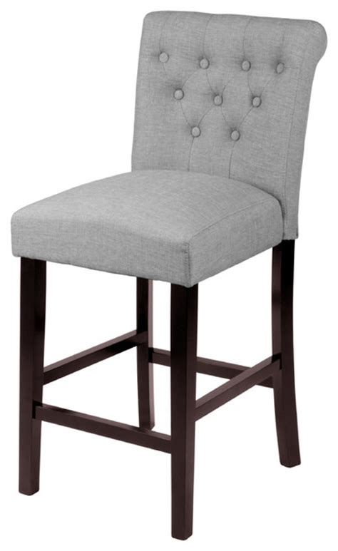 Sopri Grey Counter Chairs, Set of Two transitional bar stools and counter stools