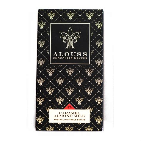 Caramel Almond caramel almond milk chocolate bar alouss chocolate makers