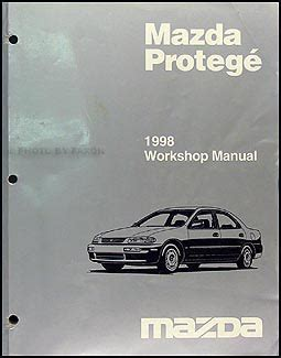 1998 mazda protege repair shop manual original