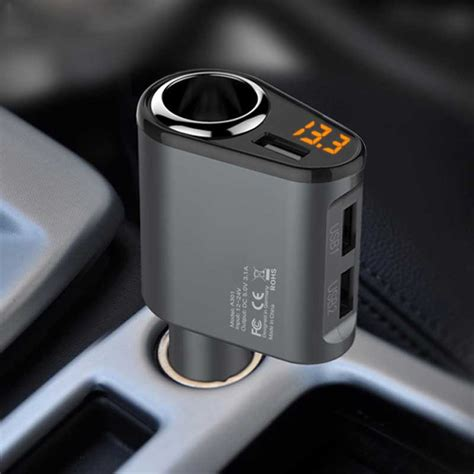 Charger Mobil 3 Socket 1 Port Car Charger car charger 3 usb ports 5v 3 1a car charger 1 socket