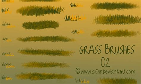 grass pattern brush photoshop a collection of free photoshop grass brush sets naldz