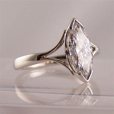 Wedding Rings Marquise Cut by Ring Jewellers 1 33ct Marquise Cut Engagement