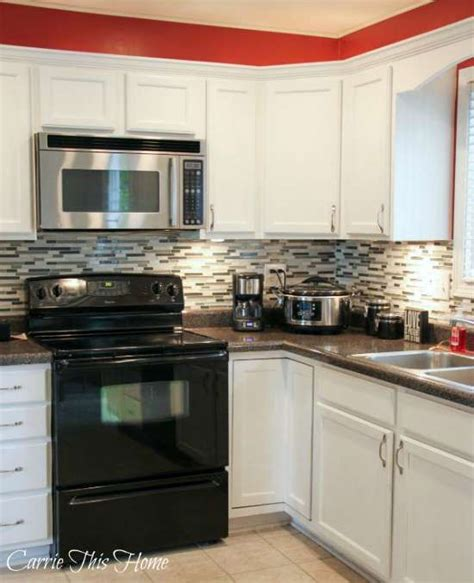 Kitchen Makeovers With White Appliances 17 Best Ideas About Black Appliances On
