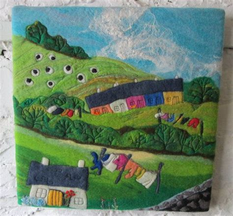 how to layout landscape fabric felt landscape fabric 406 best felted paintings images on