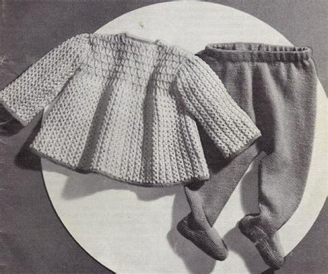 knitting pattern baby tights baby s knitted smock and leggings set grandmother s