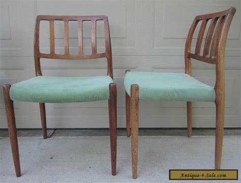 Mid Century Chairs For Sale by Set 4 Niels Moller Rosewood Dining Chairs Model 83