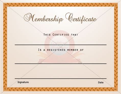 membership certificate templates 15 best membership certificate template images on