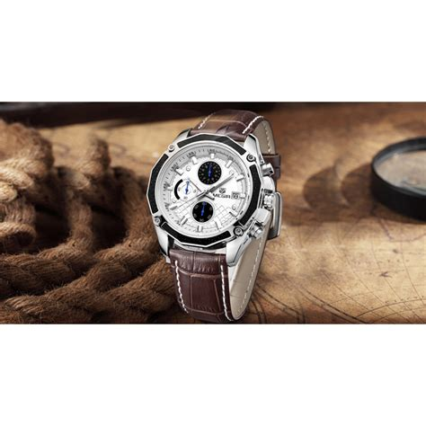 Megir Ms3006g Jam Tangan Analog megir jam tangan analog ml2015gbn brown white jakartanotebook