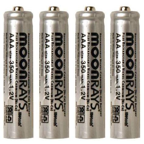 Moonrays Rechargeable 350 Mah Nicd Aaa Batteries For Solar Aaa Solar Light Batteries